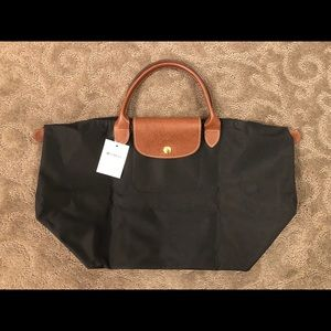 New Longchamp black tote